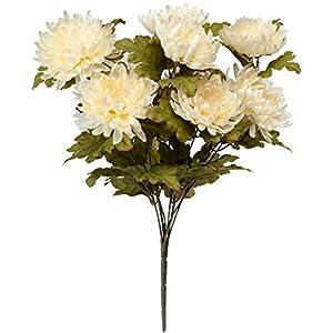 OakRidge Artificial Mum Bush Silk Floral Décor 7