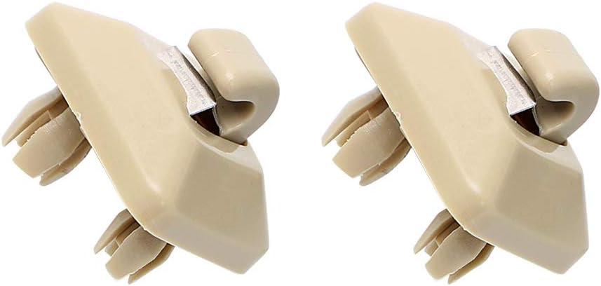 beige ORETG45 2er-Pack Sonnenblende Haken Clip Halterung f/ür Au-di A1 A3 S 3 A4 S4 A5 S5 Q3 Q5 TT nicht null Free Size
