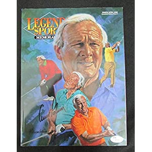 Arnold Palmer Golf Signed Legends Sports Memorbilia Magazine JSA I72753