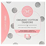 The Honest Company Organic Cotton Tampons with Plant-Based Compact Applicator, Super, 16 Count
