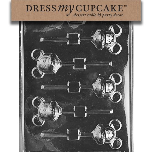 Cupcake Lollipop Mold - Dress My Cupcake Chocolate Candy Mold, Mouse Lollipop Mickey