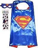 Funhall Superhero Costume and Dress Up for Kids - Satin Cape and Felt Mask (Superman)