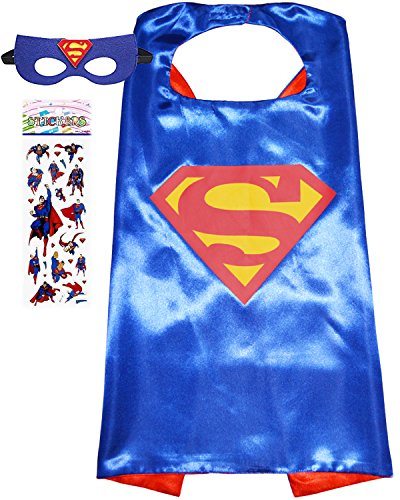 Superhero Costume and Dress up for Kids - Satin Cape and Felt Mask (aSuperman) for $<!--$9.99-->