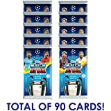 2017-18 Topps Match Attax Champions League Cards - 10-Pack Set (9 Cards per Pack - Total of 90 Cards)