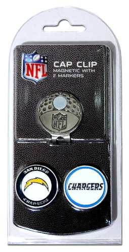 - Team Golf NFL San Diego Chargers Golf Cap Clip with 2 Removable Double-Sided Enamel Magnetic Ball Markers, Attaches Easily to Hats