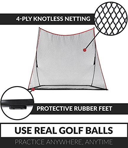 Rukket Haack Golf Net 3pc Bundle with Flexible Golf Swing Plane Tempo Trainer and Carry Bag, Practice Hitting/Driving Indoors, at Home or Backyard by Rukket Sports (Image #2)