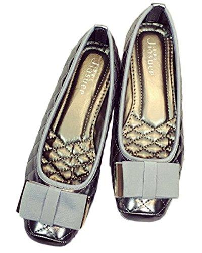 Donne Classiche Casual Moda Pieghevole Comode Ballerine Svasate Scarpe Basse S-14