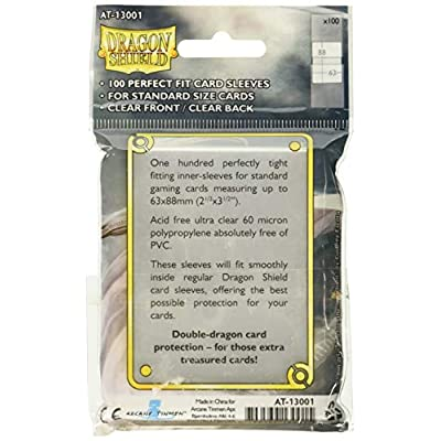 Dragon Shield Arcane Tinman AT-13001 Sleeves (100 Piece), Clear, One Size: Toys & Games