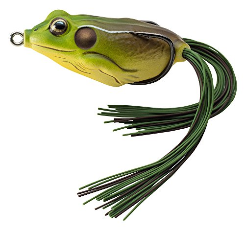 Koppers Floating Frog Hollow Body Lure  2 25 Inch  5 8 Ounce  Green Brown