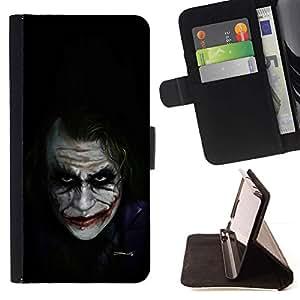 Momo Phone Case / Flip Funda de Cuero Case Cover - Personajes de Películas Bat Broma Negro - HTC Desire 626
