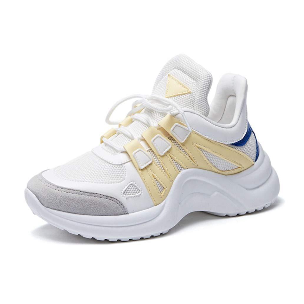 York Zhu Women Fashion Sneakers Large Size Air Mesh Platform Shoes Light Sneakers
