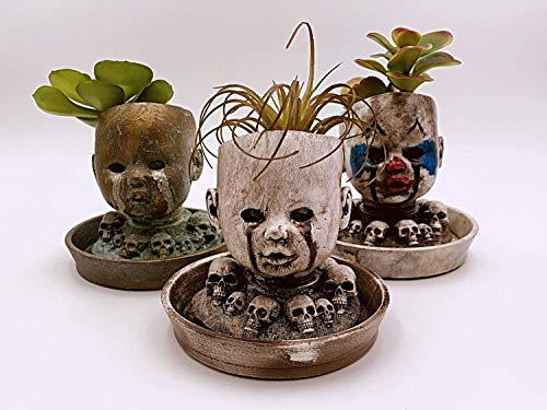 Baby Doll Head Planter with matching Saucer ()