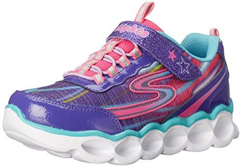 Girl Light Up Shoes (Skechers Kids Lumos-10613L Light-Up Sneaker (Toddler/Little Kid),Purple/Multi,11 M US Little Kid)