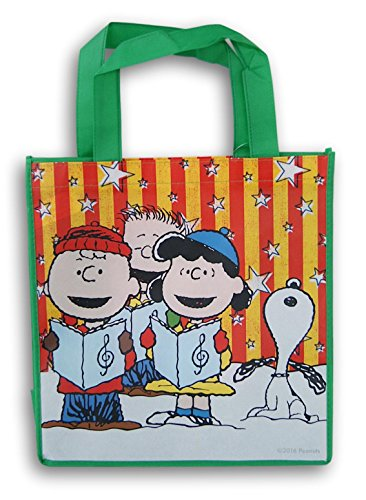 Peanuts Christmas Caroling Kids Tote Bag - 13 Inches x 13 Inches