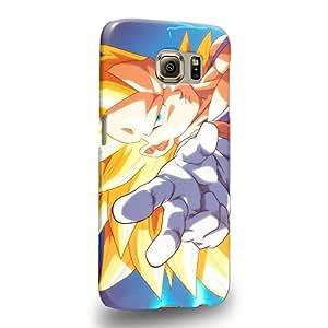 Case88 Premium Designs Dragon Ball Z GT AF Son Goku Super Saiyan Super Saiyan Vegetto Carcasa/Funda dura para el Samsung Galaxy S6 (No Edge versión !)