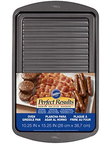 """Wilton Oven Griddle Pan 16x4.5"""" Nonstick Cooking Crispy Baco"""