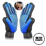 Sonolife - Par de Guantes para Cepillado Perros Gatos Masaje y Cepillos de Mascota de Fácil Limpieza con Textura en Color Juego de 2 Derecho y Izquierdo