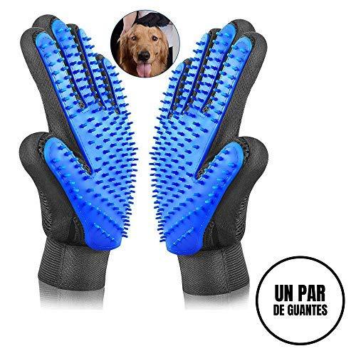 Sonolife - Par de Guantes para Cepillado Perros Gatos Masaje y Cepillos de Mascota de Fácil Limpieza con Textura en Color...