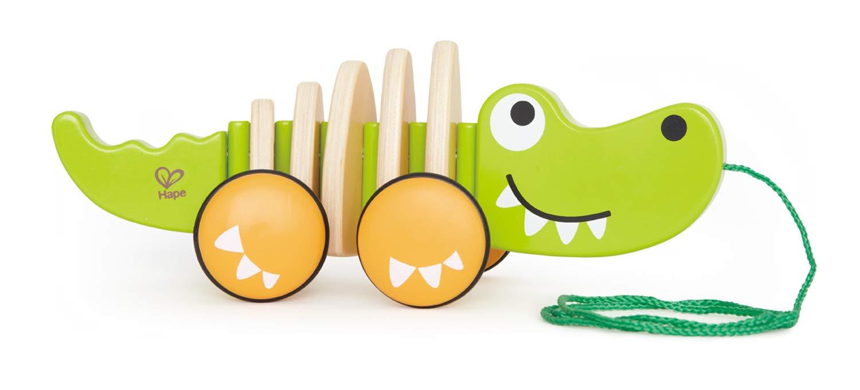 Hape E0348 E0348-Krokodil Croc Natur Green