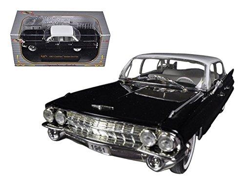 Signature Models Wholesale 1961 Cadillac Sedan De Ville Eldorado Black 1/32 Diecast Car - Model Cadillac Black