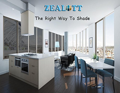 ZEALOTT Heat Rejection Window Glass Tinting Film for Residential and Commercial Uses, Sun Blocker, Solar Guard, 17.7-Inch by 6.5-Feet (45cm x 2m), Light Black by ZEALOTT (Image #1)'