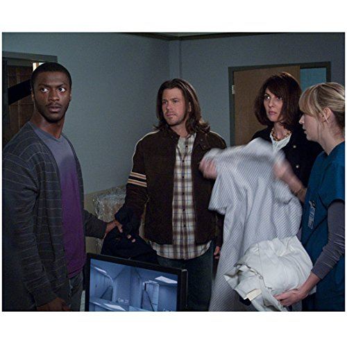 leverage-2008-2012-8x10-inch-photo-cast-pic-aldis-hodge-blue-striped-sweater-over-purple-tee-kn