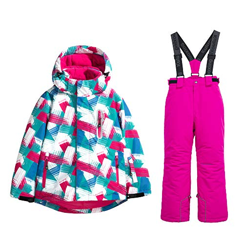 fc8e3ba9d2 GS SNOWING Girls Waterproof Windproof Snow Jacket Insulated Ski Jacket Pants  Snowsuit