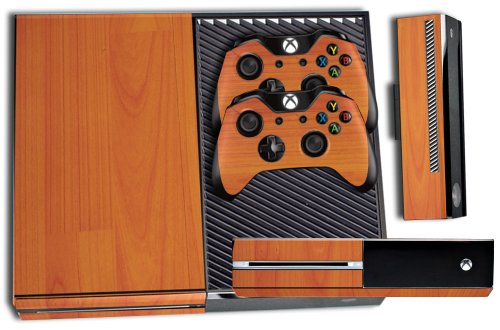 Designer Skin Sticker for the Xbox One Console With Two Wireless Controller Decals- Grain