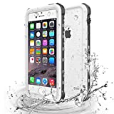 iPhone 5 5S SE Waterproof Case, Update Shockproof Dropproof Dirtproof Rain Snow Proof Full Body Protective Cover IP68 Certified Underwater Case Built-in Screen Protector for iPhone 5S 5 SE (White)