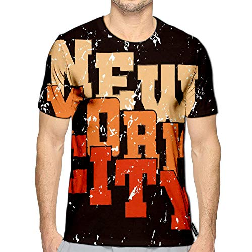 3D Printed T-Shirts New York Athletic Style NYC Fashion American Stylish Short S