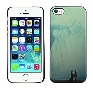[Neutron-Star] Snap-on Series Teléfono Carcasa Funda Case Caso para iPhone 5 / 5S [Pastel Árbol Ray Pareja Dulce]