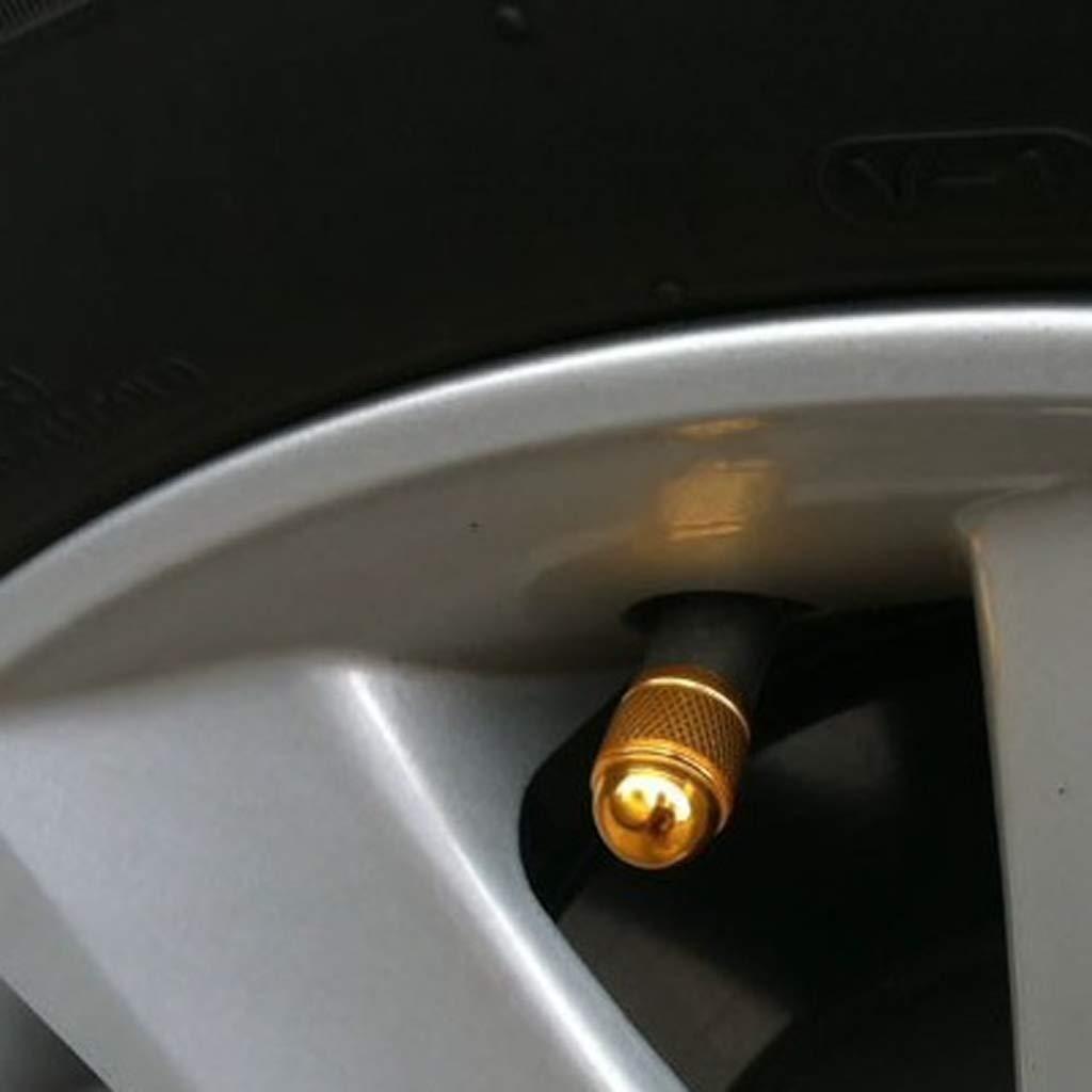 IPOTCH 5Pcs Aluminum Car Bike Bicycle Wheel Tyre Tire Air Valve Cap Stem Dust Cover