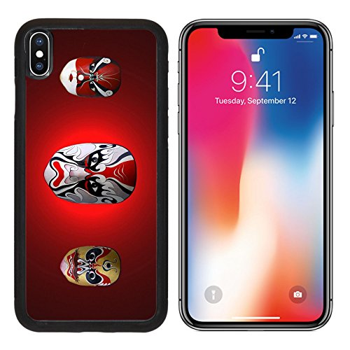 Chinese Ancient Costume Drama (MSD Premium Apple iPhone X Aluminum Backplate Bumper Snap Case IMAGE ID: 11916911 mask of chinese traditional opera)