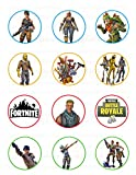 Fornite Edible Cupcake Toppers (12 Images) Cake Image Icing Sugar Sheet Edible Cake Images frnt