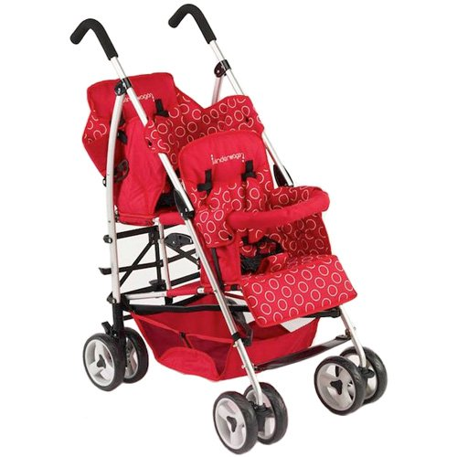 Amazon.com : Kinderwagon Hop Tandem Umbrella Stroller - Red v2 ...