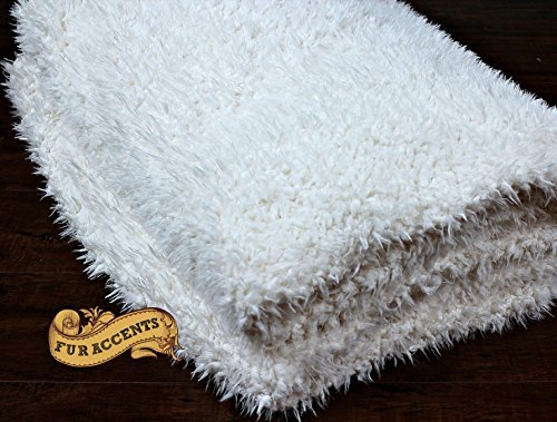 Minky Cuddle / Shaggy Faux Fur Fleece / Lambskin / Reversible Two Sided / All Sizes (60''x70'')