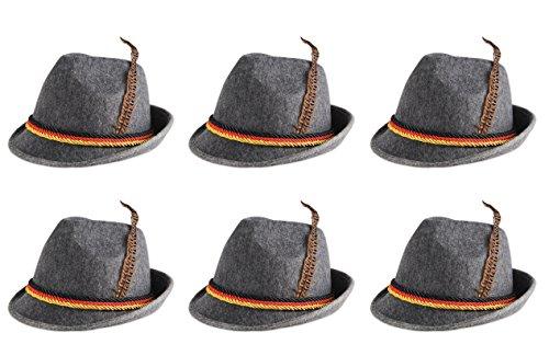 Beistle 60243 6-Pack German Alpine Hats ()