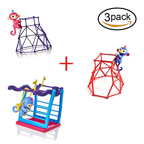 Coldtoy Interactive Baby Monkey 3pack Playsets , Baby Mon...