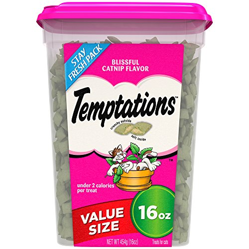 TEMPTATIONS Classic Cat Treats, Blissful Catnip Flavor, 16 oz. Tub