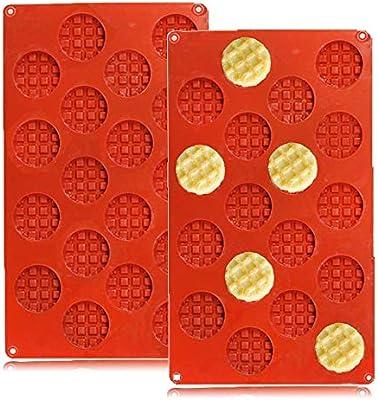 Amazon.com: QELEG 18-Cavity Silicone Mini Round Waffle ...