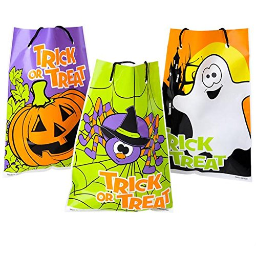 Assorted Halloween Theme Trick Or Treat Drawstring Goody Bags (36) (Cheap Halloween Games For A Party)