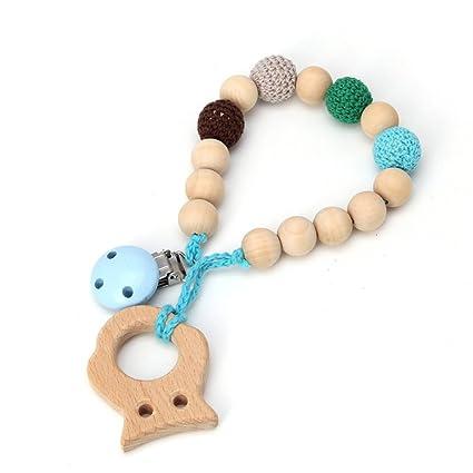 Baby Chupete con madera colgante Natural Madera Infantil ...