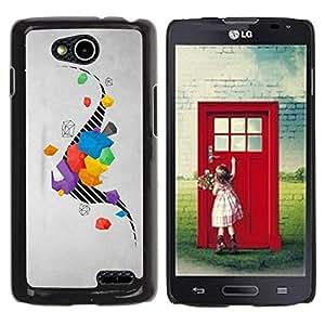 Be Good Phone Accessory // Dura Cáscara cubierta Protectora Caso Carcasa Funda de Protección para LG OPTIMUS L90 / D415 // Drawing Stripes Abstract Grey Gray