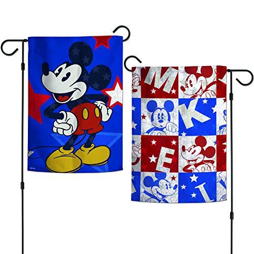 WinCraft Disney Disney Disney Mickey Americana Garden Flags 2 Sided 12.5