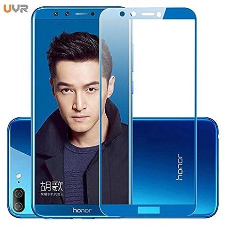 Peezer ® Honor 9 Lite Edge to Edge 5D Ultra HD Full Scree Coverage Premium  Tempered Glass for Huawei Honor 9Lite (Blue)