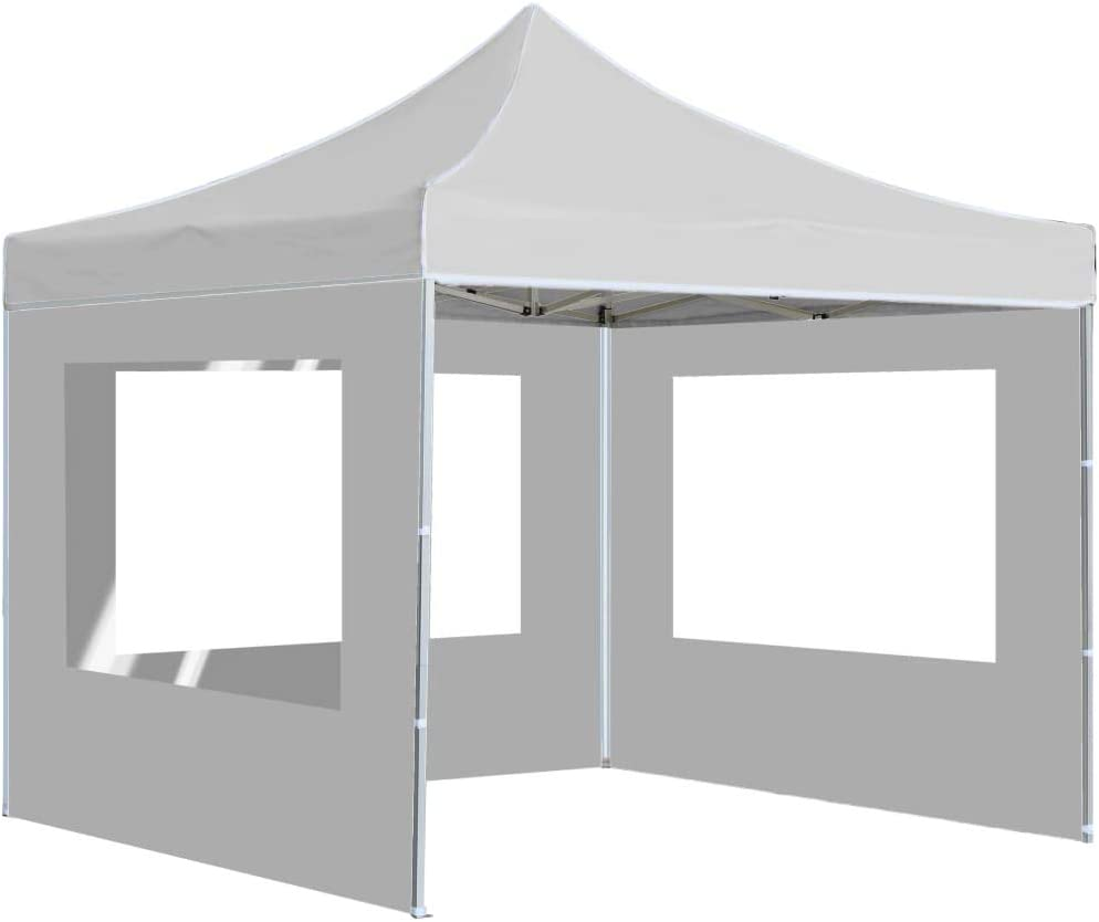 Tidyard - Cenador Profesional Plegable (con Paredes), Cortinas Exteriores de Aluminio, 3 x 3 m, Color Crema/Blanco, 1# 2# 3#: Amazon.es: Jardín