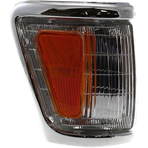 DAT 92-95 TOYOTA PICKUP 4WD CHROME TRIM PARKING LIGHT ASSEMBLY CORNER OF FENDER RIGHT PASSENGER SIDE TO2521131