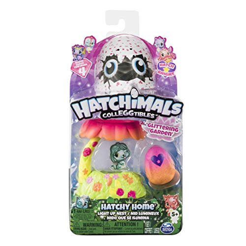 Hatchimals CollEGGtibles  Glittering Garden Hatchy Home Light-up Nest with Exclusive Season 4 CollEGGtibles, for Ages 5 and Up