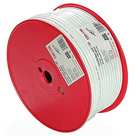 bauck HAGE profesional SAT120 – 136 – Cable coaxial, 100 m, 7.2 mm,