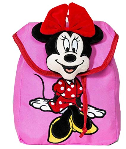 Disney Girls' Mickey Mouse & Friends Minnie Mouse Plush Backpack Fashionable Bag